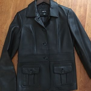 Brand new leather jacket in small